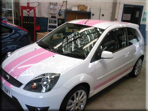 Ford Fiesta St Pink Viper Stripe Vinyl Creations