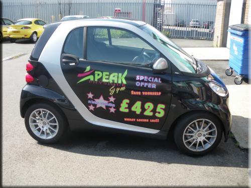 Peak Physique Smart Car Sign Writing Vinyl Creations - Car signwriting