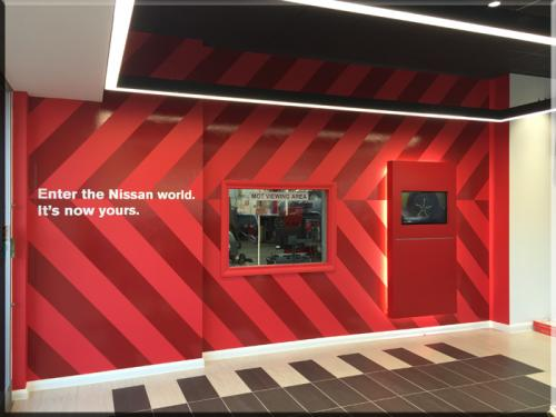 Nissan Hand Over area wall graphics